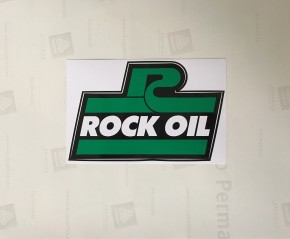 Aufkleber ROCK OIL 15,5 x 9,8cm (B x H) - schwarz