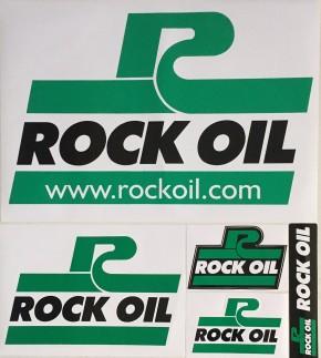Aufkleber ROCK OIL 9 x 6cm (B x H)